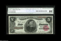 """Large Size:Treasury Notes, Fr. 361 $5 1890 Treasury Note CGA Gem Uncirculated 66. The """"D"""" position note from this lovely sheet identical to the """"A"""" not..."""