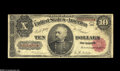 """Large Size:Treasury Notes, Fr. 368 $10 1890 Treasury Note Very Good+. This Sheridan $10 has earned the """"+"""" designation with its snappy paper, a single ..."""