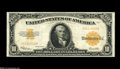 Large Size:Gold Certificates, Fr. 1173 $10 1922 Gold Certificate Extremely Fine-About Uncirculated. Bold orange ink is found on this $10 Gold with a later...