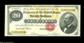Large Size:Gold Certificates, Fr. 1178 $20 1882 Gold Certificate About Uncirculated. Theleft-hand edge exhibits some handling, plus there is a tiny topm...