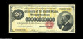 Large Size:Gold Certificates, Fr. 1178 $20 1882 Gold Certificate Very Fine. An attractive face with weak back color define this $20 that has a couple of m...