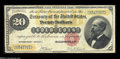 Large Size:Gold Certificates, Fr. 1178 $20 1882 Gold Certificate Fine-Very Fine. Nicely margined and with strong color remaining on the often badly faded ...