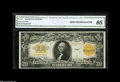 Large Size:Gold Certificates, Fr. 1187 $20 1922 Gold Certificate CGA Gem Uncirculated 65. Thecolors are spectacular on this Gold double sawbuck that appe...