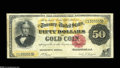 Large Size:Gold Certificates, Fr. 1193 $50 1882 Gold Certificate Very Fine. A premium example ofthe grade, with vibrant original colors, nice centering a...