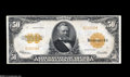 Large Size:Gold Certificates, Fr. 1200a $50 1922 Mule Gold Certificate Choice Extremely Fine.Although this Friedberg number is quite readily available in...