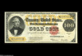 Large Size:Gold Certificates, Fr. 1215 $100 1922 Gold Certificate Extremely Fine. Beautifulcolors and margins, as well as ideal paper originality, unfort...