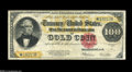 Large Size:Gold Certificates, Fr. 1215 $100 1922 Gold Certificate Star Note Very Fine+. Fewerthan 25 large size $100 Gold stars have been reported to dat...