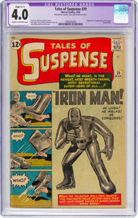 Tales of Suspense #39 (Marvel, 1963) CGC Apparent VG 4.0 Slight (C-1) Cream to off-white pages