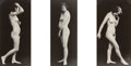 Photographs, Albert Arthur Allen (American, 1886-1962). Untitled (Nude - 3 Views), circa 1925. Gelatin silver, printed later. 5-5/8 x...