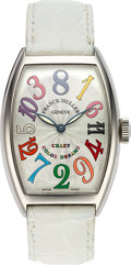 Timepieces:Wristwatch, Franck Muller, Crazy Color Dreams, Stainless Steel Automatic, Ref.5850 CH, L.E #461, Circa 2005. ...