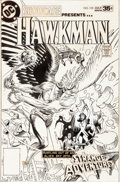 Original Comic Art:Covers, Joe Kubert Showcase #102 Hawkman and Adam Strange Cover Original Art (DC, 1978)....
