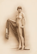 Photographs, Paris Art Editions (20th Century). Untitled (Posed Nude), Early 20th century. Photogravure. 8-1/2 x 6 inches (21.6 x 15....