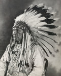 Photographs, Unknown (American, 20th Century). Indian Chief, 20th Century. Gelatin silver, printed later. 9 x 7-1/4 inches (22.9 x 18...