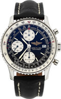Timepieces:Wristwatch, Breitling, Navitimer Automatic Chronograph, Stainless Steel, Ref.81610, Circa 1989. ...