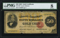 Large Size:Gold Certificates, Fr. 1193 $50 1882 Gold Certificate PMG Very Good 8.. ...