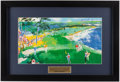 """Golf Collectibles:Art, LeRoy Neiman """"Jack Nicklaus on the 18th"""" Framed Print...."""