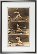 Autographs:Photos, Mickey Mantle Signed Framed Photograph Display, Wearing #6....