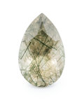 Gems:Faceted, Gemstone: Quartz & Edenite - 14.79 Cts.. Madagascar. 13.75 x 21.77 x 11.16 mm. ...