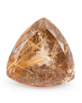 Gems:Faceted, Gemstone: Rutilated Quartz - 142.28 Cts.. Brazil. 34.5 x 34.91 x 23.11 mm. ...