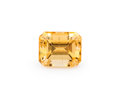 Gems:Faceted, Gemstone: Imperial Topaz - 1.6 Cts.. Brazil. 6.95 x 5.66 x 4.65 mm. ...