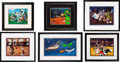 """Basketball Collectibles:Others, 1992-97 Michael Jordan Signed """"Hare Jordan"""" & """"Space Jam"""" Limited Edition Cells Lot of 6.... (Total: 6 items)"""