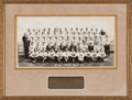 Football Collectibles:Photos, 1942 College All Stars Multi-Signed Oversized Original Francis Burke Photograph - With Heisman Trophy Winner Bruce Smith!...
