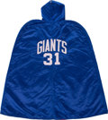 Football Collectibles:Others, 1961-64 Bill Winter Game Worn New York Giants Sideline Cape....