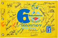 Golf Collectibles:Autographs, 2006 Colonial Golf Tournament Multi-Signed Golf Flag. ...