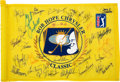 Golf Collectibles:Autographs, 2000's Bob Hope Classic Multi-Signed Flag. ...