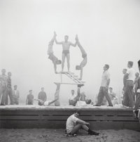 Don Jim (Chinese/American, 20th Century) Three Photographs from the series 'Muscle Beach, Santa Moni