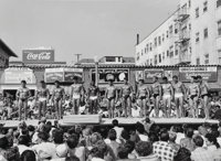 Don Jim (Chinese/American, 20th Century) Three Photographs from the Series 'Muscle Beach, Santa Monica 1950s'</...
