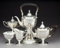 Silver Holloware, American:Tea Sets, A Five-Piece Tiffany & Co. Winthrop Pattern Silver TeaService, New York, designed 1909, manufactured pre-1947. ...(Total: 5 Items)