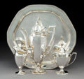 Silver & Vertu:Hollowware, A Four-Piece Tiffany & Co. Silver Coffee Service, New York, 1907-1947. Marks to coffee pot: TIFFANY & CO, 18819 MAKERS 832... (Total: 4 Items)
