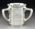 Silver Holloware, American:Loving Cup, A Gorham Mfg Co. Acid Etched Silver Tyg, Providence, Rhode Island, 1910. Marks: (lion-anchor-G), STERLING, A4635, 6 1/4 PI...