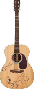 Music Memorabilia:Autographs and Signed Items, Crosby, Stills, Nash & Young Signed Martin Acoustic Guitar....
