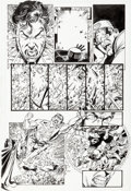 Original Comic Art:Panel Pages, George Pérez and Scott Koblish Final Crisis: Legion of ThreeWorlds #1 Story Page 13 Original Art (DC, 2008)....