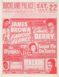 Music Memorabilia:Posters, James Brown/Chuck Berry Rockland Palace Concert Handbill (1961).Very Rare....