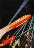 Mainstream Illustration, Howard V. Brown (American, 1878-1945). Sidewise in Time, Astounding Stories cover preliminary, June 1934. Gouache on boa...
