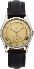 Timepieces:Wristwatch, Vacheron Constantin Stainless Steel Wristwatch, circa 1930. ...