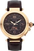 Timepieces:Wristwatch, Cartier Ref. 2937 Fine 18k Rose Gold Pasha, Day/Night Indication. ...