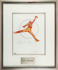 "Autographs:Others, 2009 Michael Jordan Signed ""1/1"" UDA Artwork by Carlo Beninati. ..."
