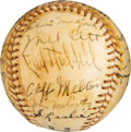 Baseball Collectibles:Balls, 1937 New York Giants Team Signed Baseball....