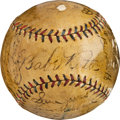 Baseball Collectibles:Balls, 1926 New York Yankees Team Signed Baseball....