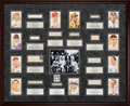 Baseball Collectibles:Others, 1939 Baseball Hall of Fame Inaugural Class Signed Display - Each Signature PSA/DNA Encapsulated. ...