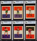 Boxing Cards:General, 1956 Adventure Boxing GAI Graded Collection (18)....