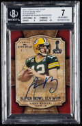 Football Cards:Singles (1970-Now), 2011 Topps Five Star Super Bowl MVP Aaron Rodgers #SBMVP-AR BGS NM 7, Autograph 9 - Serial #'d 45/50....