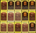 Autographs:Post Cards, Billy Herman Signed Hall of Fame Plaque Postcard Collection (15). ...