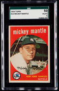 Baseball Cards:Singles (1950-1959), 1959 Topps Mickey Mantle #10 SGC 50 VG/EX 4....