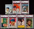 Baseball Cards:Lots, 1950's - 1970's Baseball Stars & HoFers Collection (7). ...