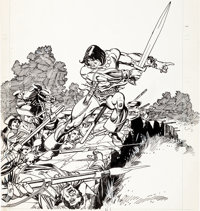 Gil Kane - The Mighty Marvel Bicentennial Calendar, Conan Illustration Original Art (Marvel, 1976)